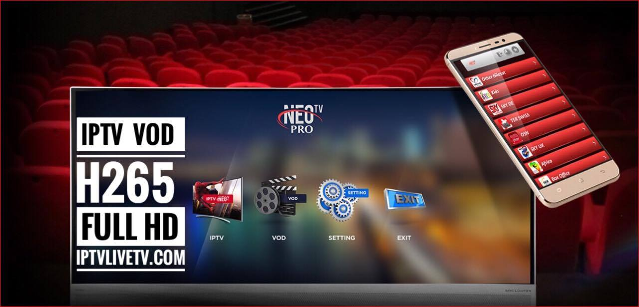 Arabic tv box Neo Pro H265 iptv livetv smart stream TV Arabic tv box